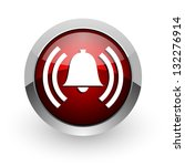 alarm red circle web glossy icon | Shutterstock . vector #132276914