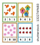 spring season themed counting 1 ... | Shutterstock .eps vector #1322769683