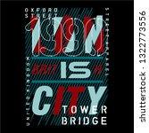 british city graphic typography ... | Shutterstock .eps vector #1322773556