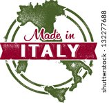 vintage made in italy stamp | Shutterstock .eps vector #132277688