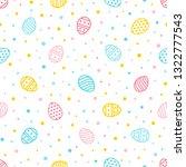 easter seamless pattern.... | Shutterstock .eps vector #1322777543