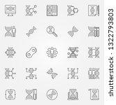 genetics outline icons set.... | Shutterstock .eps vector #1322793803
