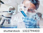 young female scientist standing ... | Shutterstock . vector #1322794403