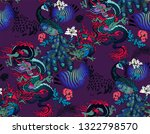 pattern of peacock and asian... | Shutterstock .eps vector #1322798570