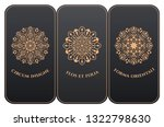 vector set of luxury packaging... | Shutterstock .eps vector #1322798630
