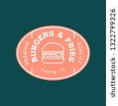 burger logo. retro styled fast... | Shutterstock .eps vector #1322799326