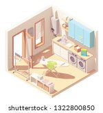 vector isometric laundry room... | Shutterstock .eps vector #1322800850