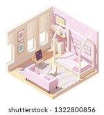 vector isometric kid or... | Shutterstock .eps vector #1322800856
