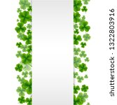 banner with clovers with... | Shutterstock .eps vector #1322803916