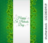 green banner with clovers with... | Shutterstock .eps vector #1322803919