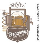 vector banner for craft beer... | Shutterstock .eps vector #1322804996