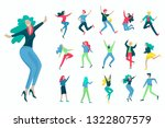 jumping character in various... | Shutterstock .eps vector #1322807579