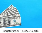 american dollars. a stack of... | Shutterstock . vector #1322812583