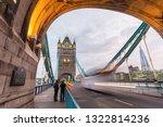 tower bridge in london at night   Shutterstock . vector #1322814236