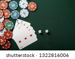chips with cards and dices for... | Shutterstock . vector #1322816006
