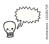 shrieking skull with speech... | Shutterstock . vector #132281729
