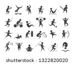 sport people set. collection of ...   Shutterstock .eps vector #1322820020