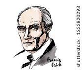 francis crick watercolor... | Shutterstock . vector #1322820293