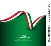 italy independence day vector... | Shutterstock .eps vector #1322823410