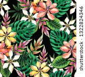 seamless floral pattern of... | Shutterstock . vector #1322824346