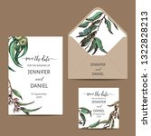 vector invitation for wedding... | Shutterstock .eps vector #1322828213