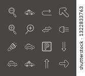 outline 16 illuminated icon set....   Shutterstock .eps vector #1322833763
