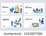 templates design for online... | Shutterstock .eps vector #1322837300