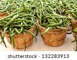 Fresh Home Grown Green Beans In ...