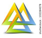 valknut symbol   Shutterstock .eps vector #132284078
