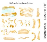watercolor gold paint stains... | Shutterstock . vector #1322841749