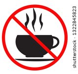 no coffee cup icon on white... | Shutterstock .eps vector #1322845823