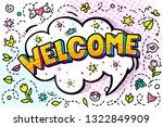welcome message in comic speech ...   Shutterstock .eps vector #1322849909