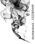 abstract black smoke swirls... | Shutterstock . vector #132285449