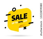 sale banner template design... | Shutterstock .eps vector #1322859080