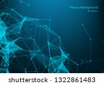 abstract plexus background with ... | Shutterstock .eps vector #1322861483