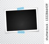 retro photo frame with shadows. | Shutterstock . vector #1322866439