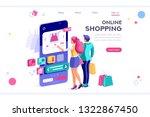 e commerce buyer. internet... | Shutterstock .eps vector #1322867450