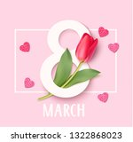 womens day 8 march design... | Shutterstock .eps vector #1322868023
