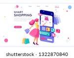 e commerce buyer. internet... | Shutterstock .eps vector #1322870840