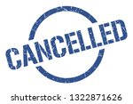 cancelled blue round stamp | Shutterstock .eps vector #1322871626