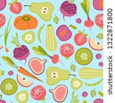 seamless patter with fruits and ... | Shutterstock .eps vector #1322871800