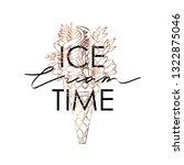 typography slogan ice cream...   Shutterstock .eps vector #1322875046