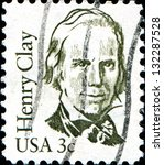 Small photo of USA - CIRCA 1986: A stamp printed in United States of America shows Henry Clay, lawyer, politician, skilled orator who represented Kentucky in both Senate and in House of Representatives, circa 1986