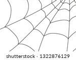 cobweb isolated on white ... | Shutterstock .eps vector #1322876129