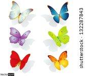 Multicolored Butterflies...