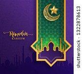 ramadan kareem or eid mubarak... | Shutterstock .eps vector #1322878613