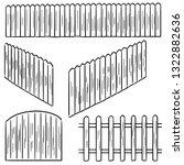 vector set of fence   Shutterstock .eps vector #1322882636