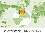america centric world map with... | Shutterstock .eps vector #1322891699