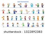 children play as different... | Shutterstock .eps vector #1322892383