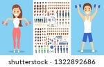 sportsman character set for the ... | Shutterstock .eps vector #1322892686